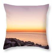 Reculver Sunset Throw Pillow