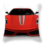 Red Ferrari F430 Scuderia Throw Pillow
