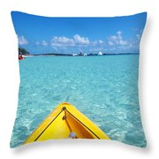 Relaxing At Coco Cay In The Bahamas Throw Pillow
