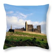 Rock Of Cashel, Co Tipperary, Ireland Throw Pillow