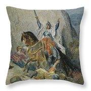 Saladin (1138-1193) Throw Pillow