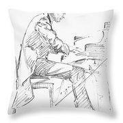 Sergei Rachmaninoff Throw Pillow