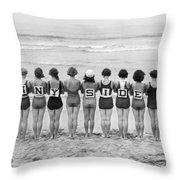 Silent Film Still: Beach Throw Pillow