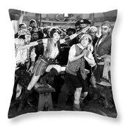 Silent Film Still: Pirates Throw Pillow