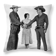 Silent Film Still: Western Throw Pillow
