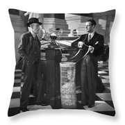 Silent Still: Banking Throw Pillow