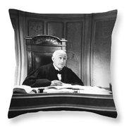 Silent Still: Courtroom Throw Pillow