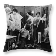 Silent Still: Showgirls Throw Pillow by Granger