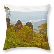 3 Sisters Blue Mountains Throw Pillow