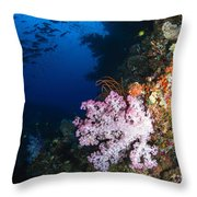 Soft Coral Seascape, Fiji Throw Pillow