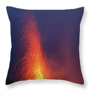 Stromboli Eruption, Aeolian Islands Throw Pillow