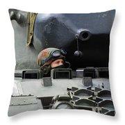 Tank Driver Of A Leopard 1a5 Mbt Throw Pillow