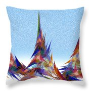 3 Teepees Snow Storm Throw Pillow