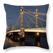 The Albert Bridge London Throw Pillow