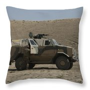 The German Army Atf Dingo Armored Throw Pillow