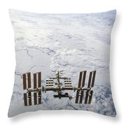 The International Space Station Throw Pillow
