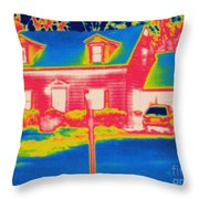 Thermogram Of A House Throw Pillow