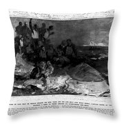 Titanic: Sinking, 1912 Throw Pillow