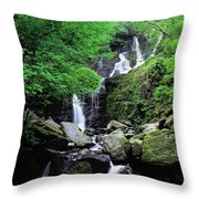 Torc Waterfall, Killarney, Co Kerry Throw Pillow