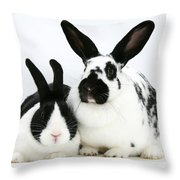 Two Rabbits Throw Pillow