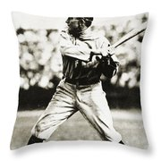 Ty Cobb (1886-1961) Throw Pillow