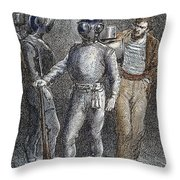 Verne: 20,000 Leagues, 1870 Throw Pillow