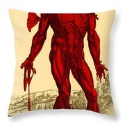 Vesalius De Humani Corporis Fabrica Throw Pillow