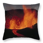 Volcanic Eruption, Spatter Cone Throw Pillow