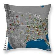 Vulcan Co2 Maps Throw Pillow