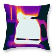 Warming Coffee Machine Throw Pillow