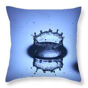 Water Drop Splashes Throw Pillow