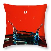 Waterdrops Throw Pillow