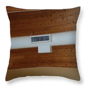 White Pipe Throw Pillow