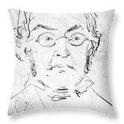William M. Thackeray Throw Pillow