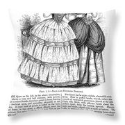Womens Fashion, 1851 Throw Pillow by Granger