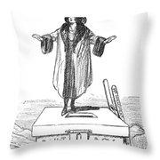 Womens Rights Cartoon Throw Pillow