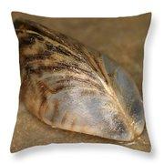 Zebra Mussel Throw Pillow