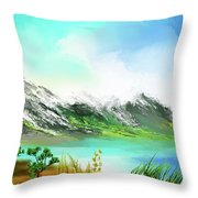 30 Minute Landscape Throw Pillow