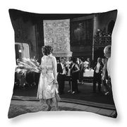 Silent Still: Man & Woman Throw Pillow by Granger