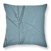 Water Reed Digital Art Throw Pillow