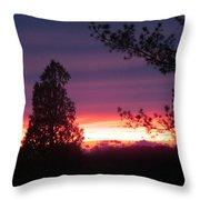 31oct2012 Sunset Four Throw Pillow