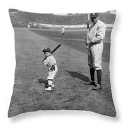 George H. Ruth (1895-1948) Throw Pillow