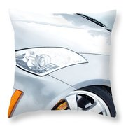 350z Car Front Close-up  Throw Pillow