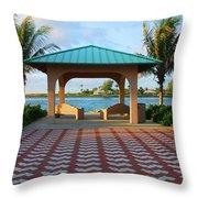 36- Palm Beach Inlet Throw Pillow