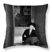 Silent Film Still: Woman Throw Pillow