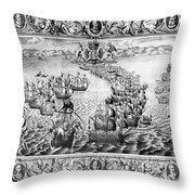 Spanish Armada, 1588 Throw Pillow
