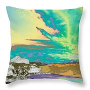 Space Landscape Throw Pillow
