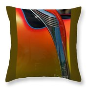 39 Ford Deluxe Hot Rod Hood Ornament  Throw Pillow