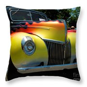 39 Ford Deluxe Hot Rod Throw Pillow