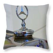 39 Mercedes-benz Emblem Throw Pillow